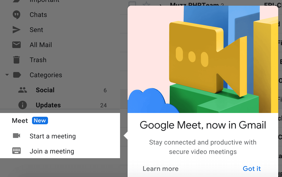 Gmail's New Meet Integration Offers 16-Person Chat, Streamlined Security & Personalized Options All from Your Inbox
