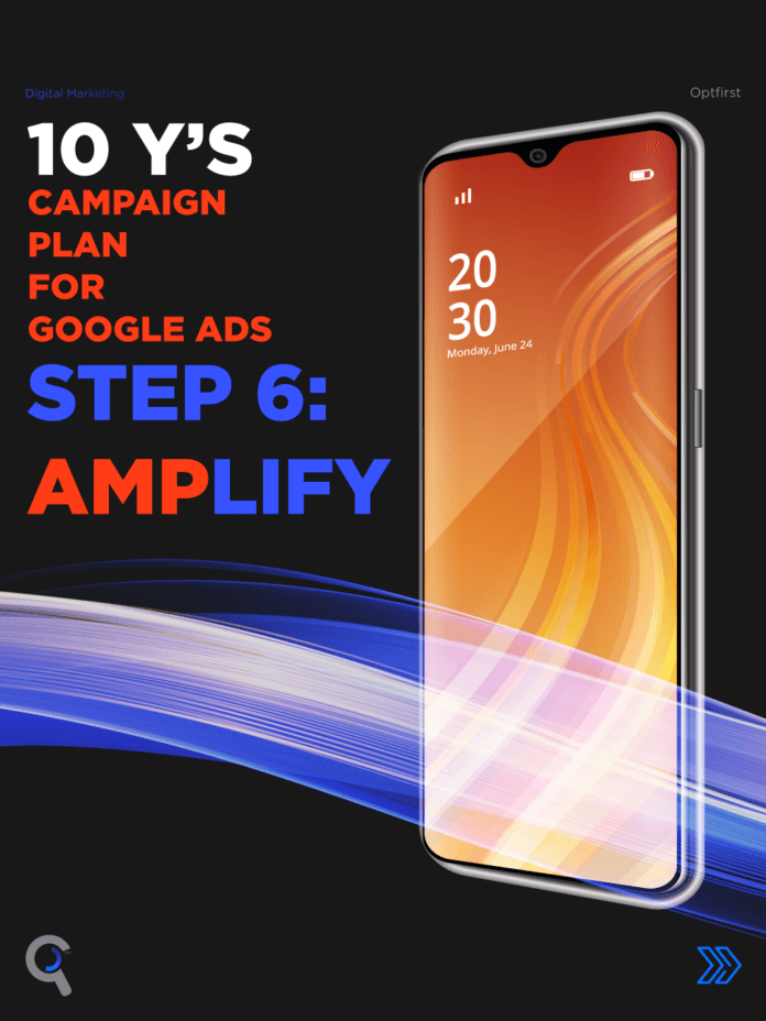 SEM Campaigns: 10 Y's Campaign Plan for Google Ads Step 6: AMPlify