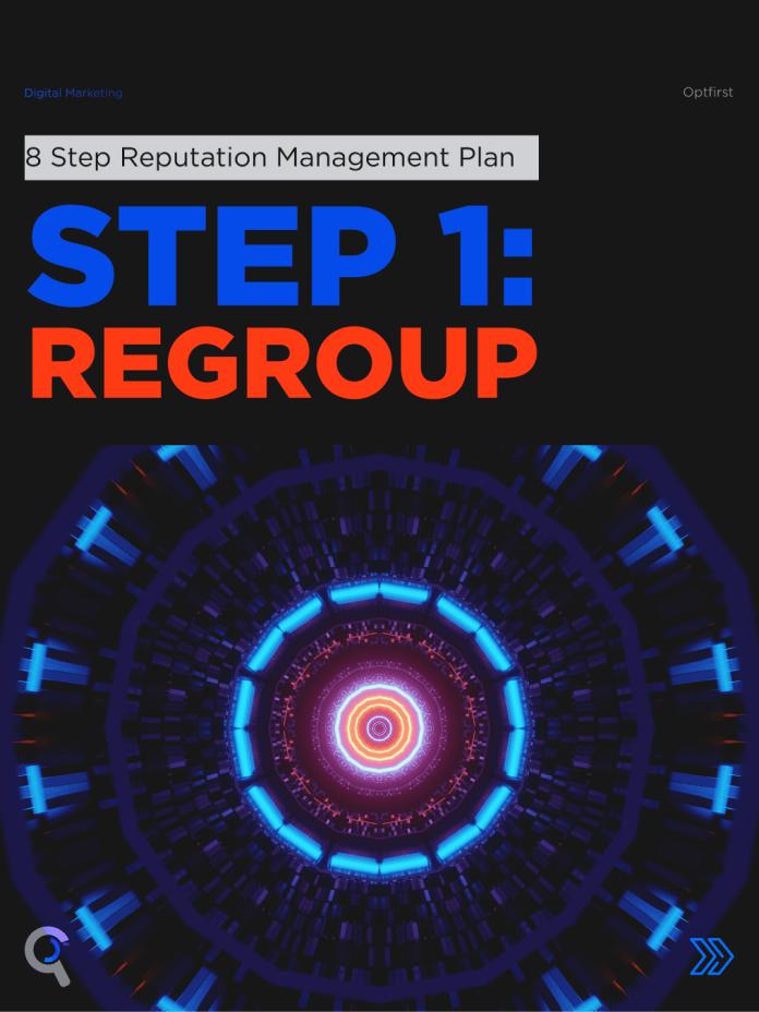 8 Step Reputation Management Plan Step 1:Regroup